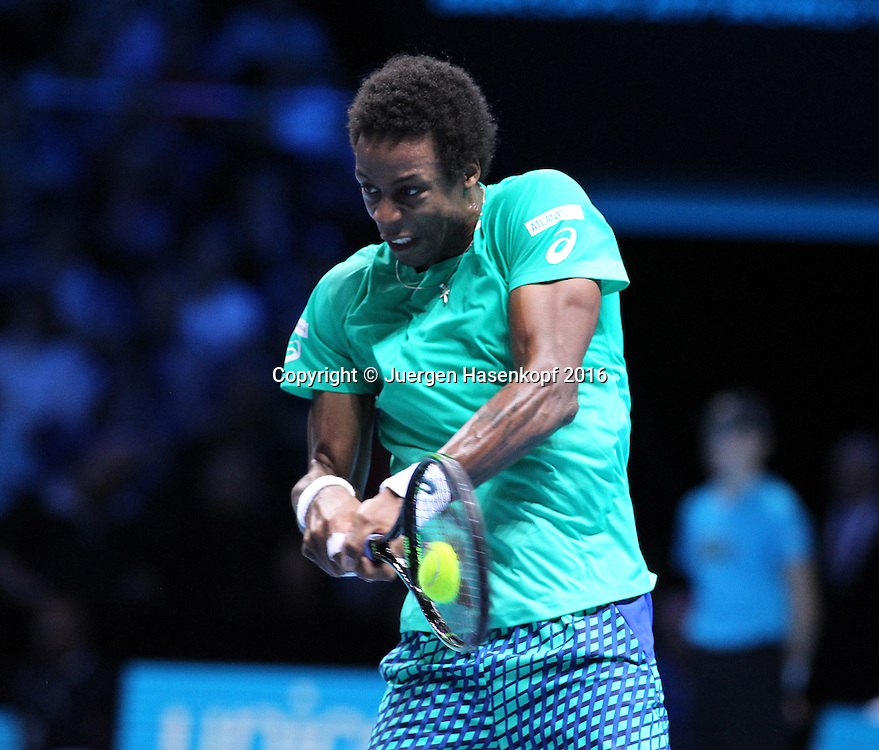 GAEL MONFILS (FRA), ATP World Tour Finals, O2 Arena, London, England.<br /> <br /> Tennis - ATP World Tour Finals 2016 - ATP -  O2 Arena - London -  - Great Britain  - 15 November 2016. <br /> &copy; Juergen Hasenkopf/Grieves
