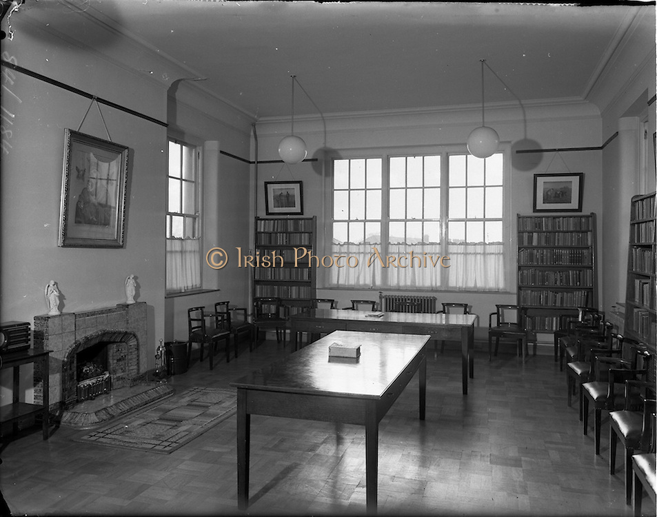 13/11/1952<br /> 11/13/1952<br /> 13 November 1952<br /> Views of the interior of James' Street C.B.S. (Christian Brother's School), Dublin for Mr James Geraghty.