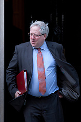 © Licensed to London News Pictures. 05/09/2012. LONDON, UK. The Transport Secretary Patrick McLoughlin is seen leaving Number 10 Downing Street in London today (05/09/12) after attending the first cabinet meeting after a cabinet reshuffle that took place yesterday (04/09/12).  Photo credit: Matt Cetti-Roberts/LNP