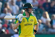 Steve Smith of Australia with bat in hand during the ICC Cricket World Cup 2019 match between Afghanistan and Australia at the Bristol County Ground, Bristol, United Kingdom on 1 June 2019.