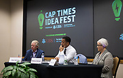 """Panel discussion """"What Should the Fire Department of the Future Look Like?"""" During the Cap Times Idea Fest 2018 at the Pyle Center in Madison, Wisconsin, Saturday, Sept. 29, 2018."""