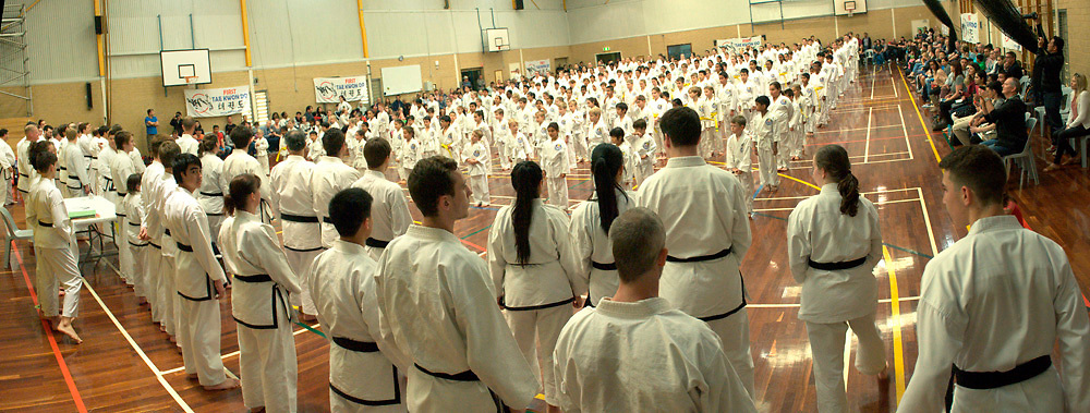 Stitched Panorama First Tae Kwan Do gradings, Perth, September 2017