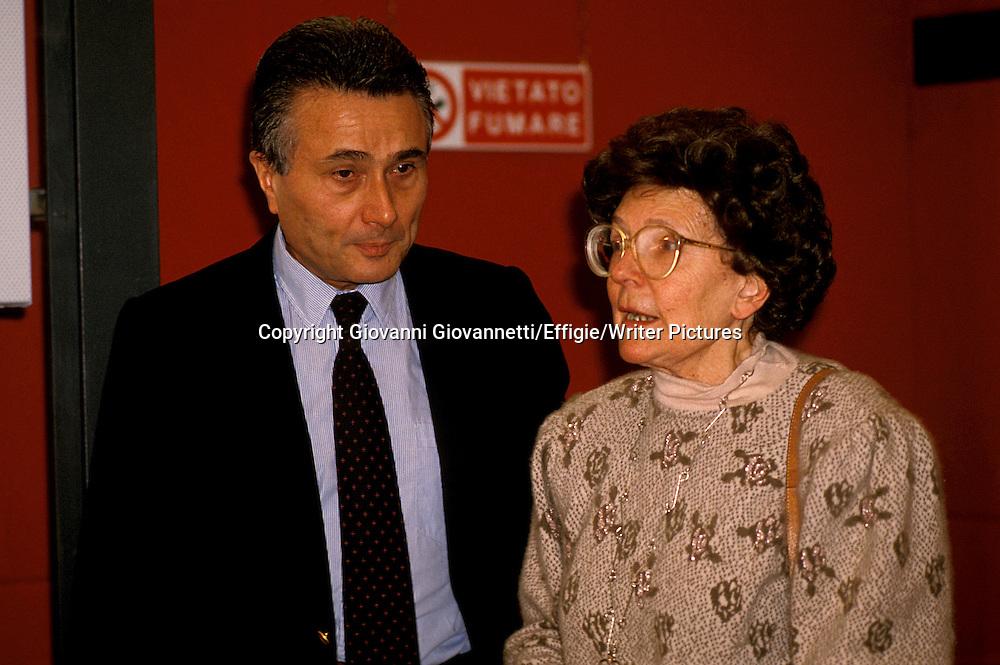 Alberto Arbasino, Maria Corti<br /> <br /> <br /> 15/11/2004<br /> Copyright Giovanni Giovannetti/Effigie/Writer Pictures<br /> NO ITALY, NO AGENCY SALES