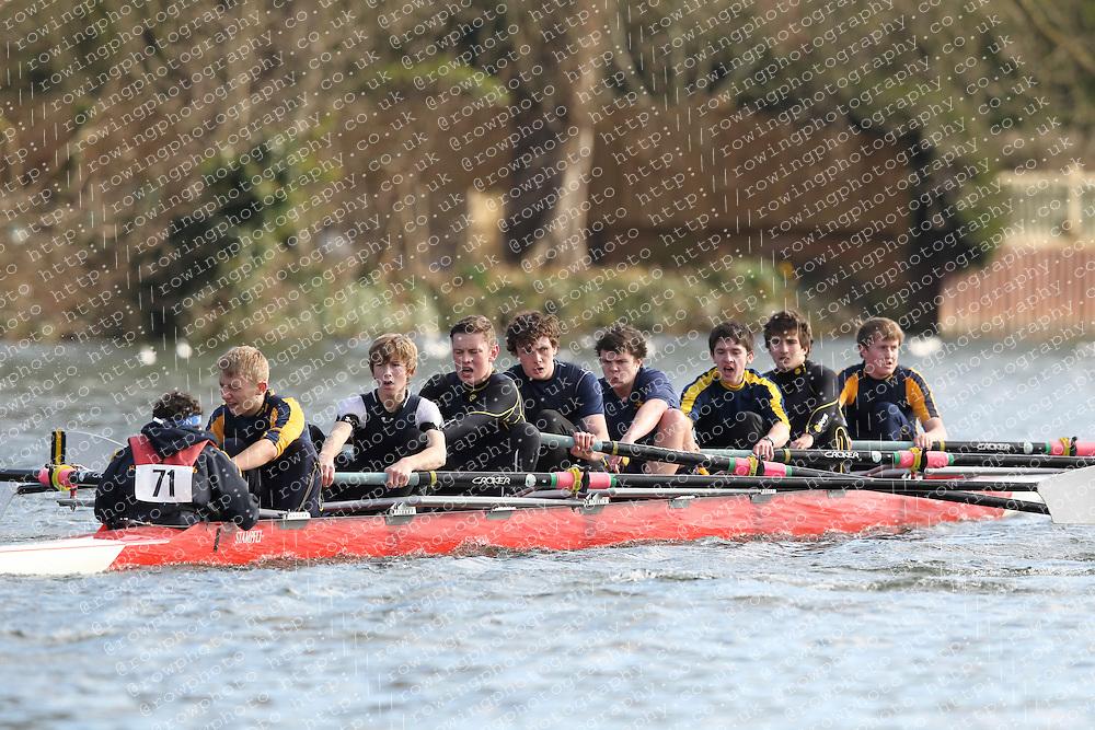 2012.02.25 Reading University Head 2012. The River Thames. Division 1. Reading Blue Coat School Boat Club J18A 8+
