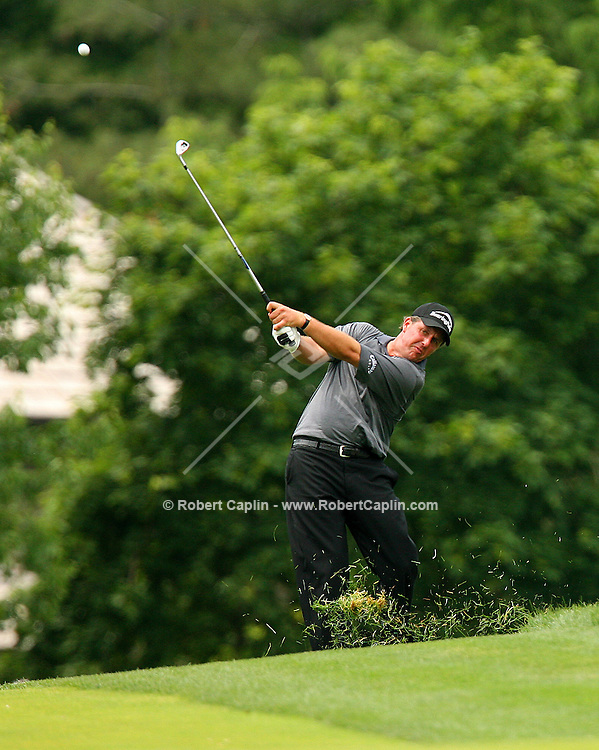 Phil Mickelson during the first round at the Memorial Tournament held in Dublin, OH as part of the PGA tour. 6/1/06.
