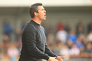 Joey Barton during the EFL Sky Bet League 1 match between Fleetwood Town and Rochdale at the Highbury Stadium, Fleetwood, England on 18 August 2018.