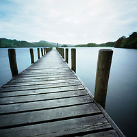 Jetty on Coniston Water, Lake District, Cumbria