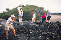 Galapgos islands, tourists with animals