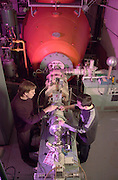 16337Carl Brune (Physics And Astronomy) & PHD Physics student Catalin Matei 06' working in Accelerator lab