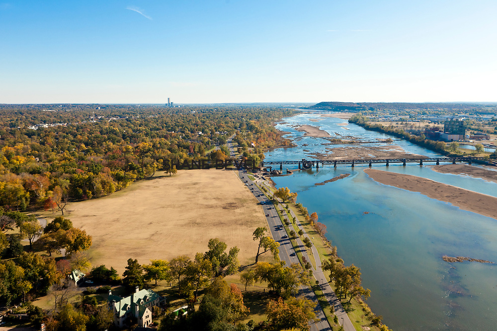 11/4/11 4:13:00 PM -- Riverside aerials..Photo by Shane Bevel.Aerial images of Tulsa's Riverparks and views of downtown Tulsa as well as the riverside area.