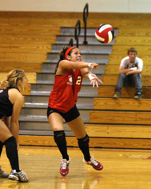 Maple Grove's Nicole Campbell during volleyball action against Hinsdale 10-19 photo by Mark L. Anderson