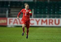 NEWPORT, WALES - Thursday, April 4, 2019: Wales' captain Loren Dykes during an International Friendly match between Wales and Czech Republic at Rodney Parade. (Pic by David Rawcliffe/Propaganda)