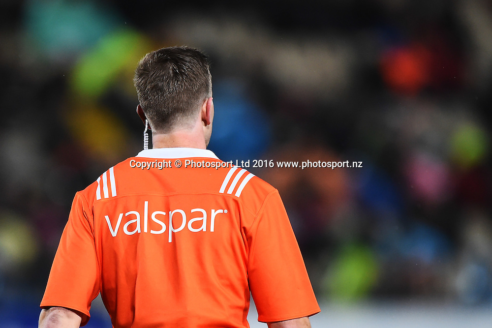 Valspar sponsor during the the Mitre 10 Cup match Tasman v Northland at Trafalgar Park, Nelson, New Zealand. Friday 16 September 2016. ©Copyright Photo: Chris Symes / www.photosport.nz
