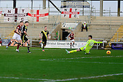 Northampton Town Striker James Collins scores during the Sky Bet League 2 match between Northampton Town and Morecambe at Sixfields Stadium, Northampton, England on 23 January 2016. Photo by Dennis Goodwin.