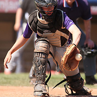 West Valley New York's catcher Keegan Kittle during baseball action against Randolph at Russ Dietrict Park in Jamestown NY 4-27-13 photo by Mark L. Anderson