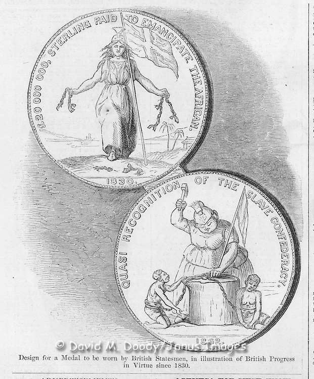 Slavery and the British. Harper's Weekly August 2, 1862 Ads & cartoons