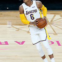 08 October 2017: Los Angeles Lakers guard Jordan Clarkson (6) is seen during the LA Lakers 75-69 victory over the Sacramento Kings, at the T-Mobile Arena, Las Vegas, Nevada, USA.