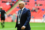 FC Halifax Town manager Jim Harvey during the FA Trophy match between Grimsby Town FC and Halifax Town at Wembley Stadium, London, England on 22 May 2016. Photo by Mike Sheridan.