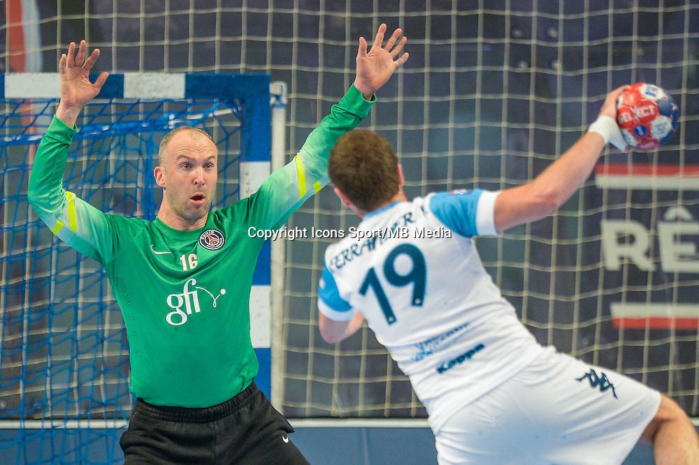 Thierry Omeyer / Antoine Ferrandier - 22.04.2015 - PSG / Creteil - 21eme journee de D1<br /> Photo : Andre Ferreira / Icon Sport
