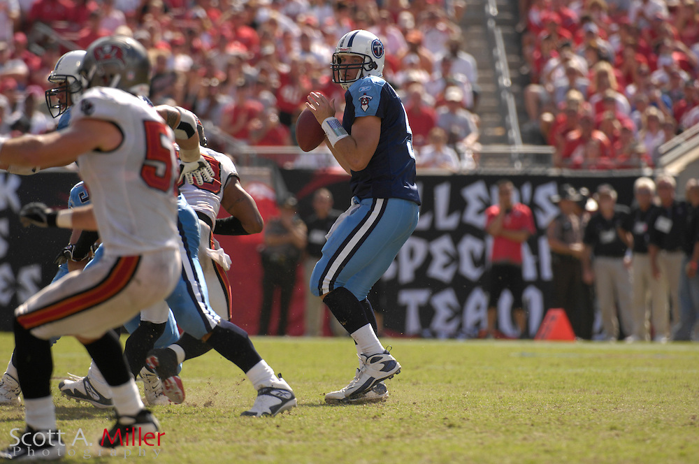 Oct. 14, 2007; Tampa, FL, USA; Tennessee Titans quarterback Kerry Collin (5) in action during his team's game against the Tampa Bay Buccaneers at Raymond James Stadium. ...©2007 Scott A. Miller
