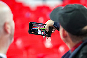 England fans take a selfie ahead of the UEFA European 2020 Qualifier match between England and Montenegro at Wembley Stadium, London, England on 14 November 2019.