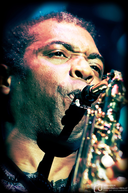 Femi Kuti live at Summerfest 2009. Photo by Jennifer Rondinelli Reilly. No use without permission. Contact me for any reuse or licensing inquiries.