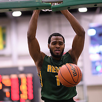 5th year forward Brian Ofori (11) of the Regina Cougars during the Men's Basketball home game on November 25 at Centre for Kinesiology, Health and Sport. Credit: Casey Marshall/Arthur Images