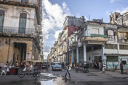 November 23, 2016 - Havana, Cuba - A typical street in Habana Vieja (Old Havana) in Havana, Cuba, on 23 November 2016. (Credit Image: © Alvaro Fuente/NurPhoto via ZUMA Press)