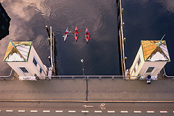 THEMENBILD - Kajakfahrer mit ihren Booten am Kanalhafen der Stadt, aufgenommen am 14. Maerz 2019 in Trondheim, Norwegen // Kayakers with their boats at the canal port of the city, Trondheim, Norway on 2018/03/14. EXPA Pictures © 2019, PhotoCredit: EXPA/ JFK
