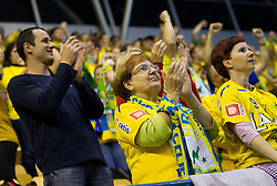 Florijani, fans of Celje during handball match between RK Celje Pivovarna Lasko and IK Savehof (SWE) in 3rd Round of Group B of EHF Champions League 2012/13 on October 13, 2012 in Arena Zlatorog, Celje, Slovenia. (Photo By Vid Ponikvar / Sportida)