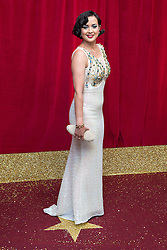 © Licensed to London News Pictures . 16/05/2015 .  The Palace Hotel , Manchester , UK . Rebecca Grant . The red carpet at the 2015 British Soap Awards , The Palace Hotel , Oxford Road , Manchester . Photo credit : Joel Goodman/LNP