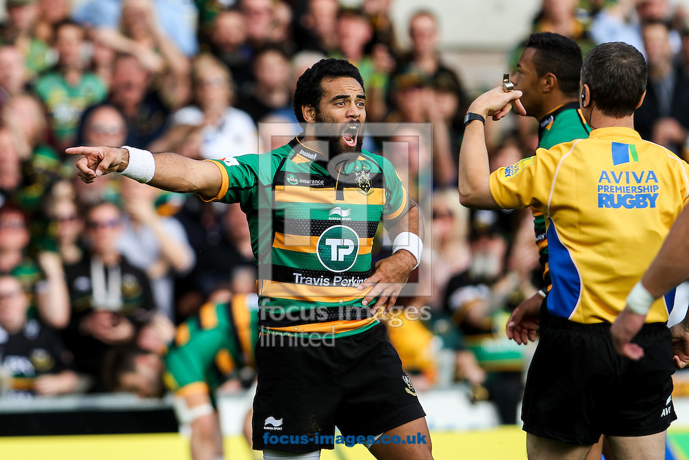 Kahn Fotuali'i of Northampton Saints during the Aviva Premiership match at Franklin's Gardens, Northampton<br /> Picture by Andy Kearns/Focus Images Ltd 0781 864 4264<br /> 27/09/2014