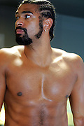 David Haye prepares to explode onto the Heavyweight division during an exclusive photo shoot at the Third Space Gym in Soho, London, 24th July 2008.