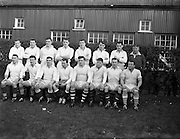 31/01/1959<br /> 01/31/1959<br /> 31 January 1959<br /> Final Irish Rugby International Trial at Lansdowne Road, Dublin. The Whites team at the trials.
