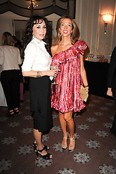 Left to right, MARIE HELVIN and HEATHER KERZNER at a dinner hosted by Vogue in honour of photographer David Bailey at Claridge's, Brook Street, London on 11th May 2010.