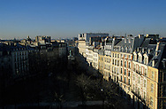 France. Paris. elevated view. place Dauphine.