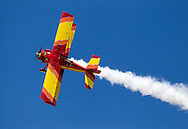 Gene Soucy performs during Los Angeles County Air Show in Lancaster, California on March 21, 2015. (Photo by Ringo Chiu/PHOTOFORMULA.com)