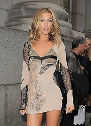 Model Abbey Clancy attends the Julian Macdonald catwalk show during London Fashion Week SS14 at Goldsmiths' Hall in London, UK. 14/09/2013<br />