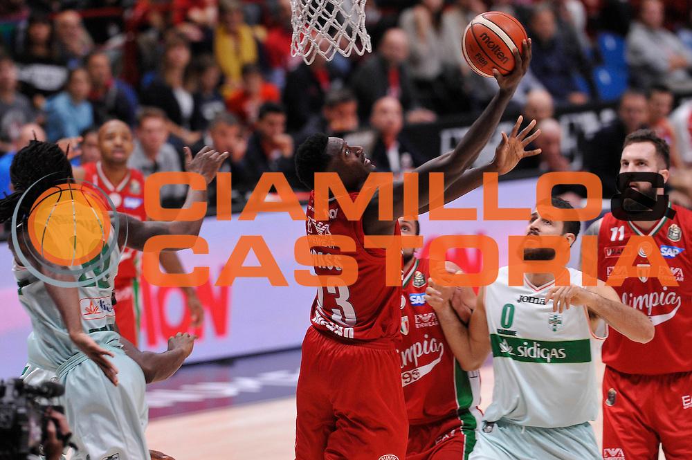 Abass Awudu<br /> EA7 Emporio Armani Olimpia Milano - Sidigas Avellino<br /> LegaBasket 2016/2017<br /> Milano 09/10/2016<br /> Foto Ciamillo-Castoria
