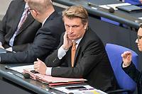 08 NOV 2018, BERLIN/GERMANY:<br /> Thomas Bareiß, MdB, CDU, Parl. Staatssekretaer beim Bundesminister für Wirtschaft und Energie, Bundestagsdebatte zum Gesetzentwurf der Bundesregierung ueber Leistungsverbesserungen und Stabilisierung in der gesetzlichen Rentenversicherung, Plenum, Deutscher Bundestag<br /> IMAGE: 20181108-01-028<br /> KEYWORDS: Sitzung, Thomas Bareiß