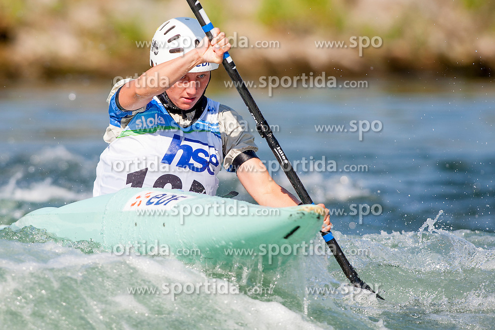 Pauline Guiet of France during Kayak(K1) Women semi-final race at ICF Canoe Slalom World Cup Sloka 2013, on August 18, 2013, in Tacen, Ljubljana, Slovenia. (Photo by Urban Urbanc / Sportida.com)