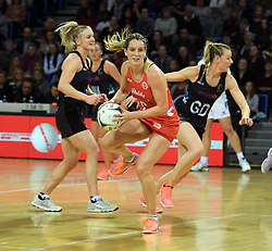 England's Sara Bayman against New Zealand in the Taini Jamison Trophy netball series match at Te Rauparaha Arena, Porirua, New Zealand, Thursday, September 07, 2017. Credit:SNPA / Ross Setford  **NO ARCHIVING**