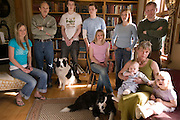 Thoroddson family at home in Hafnarfjordur, near Reykjavik, Iceland. A revisit, after the family was profiled in Material World in 1993. MODEL RELEASED.