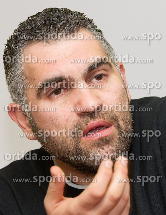Boris Denic, head coach of Slovenian Handball National team during 10th EHF European Handball Championship Serbia 2012, on January 23, 2012 in Hotel Park, Novi Sad, Serbia.  (Photo By Vid Ponikvar / Sportida.com)