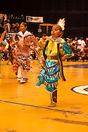 Powwow, kids, Jingle Dancer, American Indian Council Powwow, Montana State University, Montana.