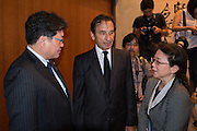 Japanese Deputy Chief Cabinet Secretary Koichi Hagiuda visited the French ambassador's residence to convey his condolences on July 15, 2016 in Tokyo, Japan. At least 84 people were killed when a truck ploughs into crowd celebrating in Bastille Day in the city of Nice. 15/07/2016-Tokyo, JAPAN