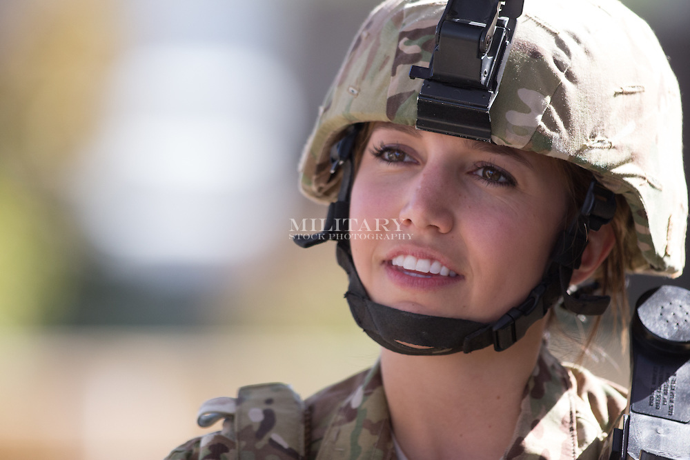 WOMAN, MODEL RELEASED ARMY MULTICAM
