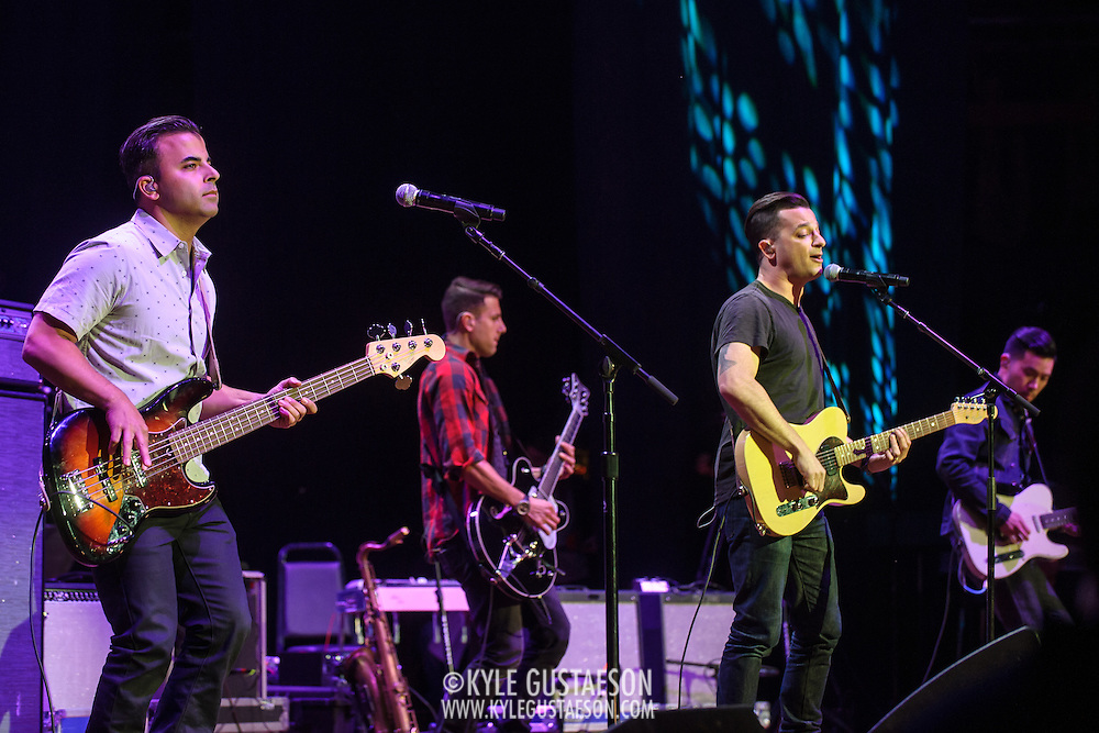 COLUMBIA, MD - May 14, 2015 - Benj Gershman, Jerry DePizzo, Marc Roberge and Richard On of O.A.R. perform during the Dear Jerry: Celebrating the Music of Jerry Garcia concert at Merriweather Post Pavilion in Columbia, MD. (Photo by Kyle Gustafson / For The Washington Post)
