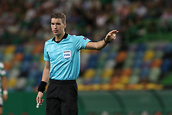 September 20, 2018 - Lisbon, Portugal - Referee Francois Letexier of France gestures during the UEFA Europa League Group E football match Sporting CP vs Qarabag at Alvalade stadium in Lisbon, on September 20, 2018. (Credit Image: © Pedro Fiuza/NurPhoto/ZUMA Press)