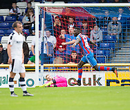Inverness&rsquo; Lonsana Doumbouya celebrates after scoring - Inverness Caledonian Thistle v Dundee in the Ladbrokes Scottish Premiership at Caledonian Stadium, Inverness. Photo: David Young<br /> <br />  - &copy; David Young - www.davidyoungphoto.co.uk - email: davidyoungphoto@gmail.com